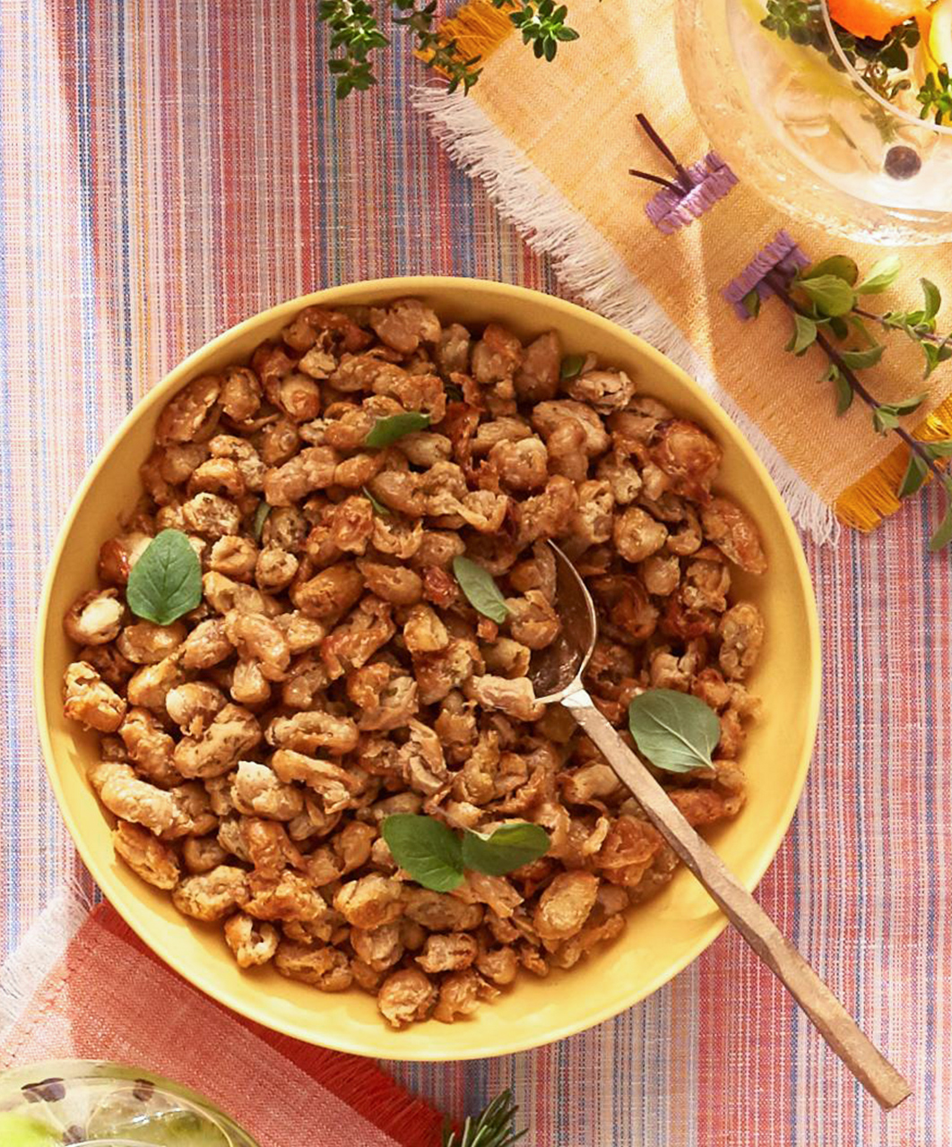 Crispy White Beans with Garlic and Herbs