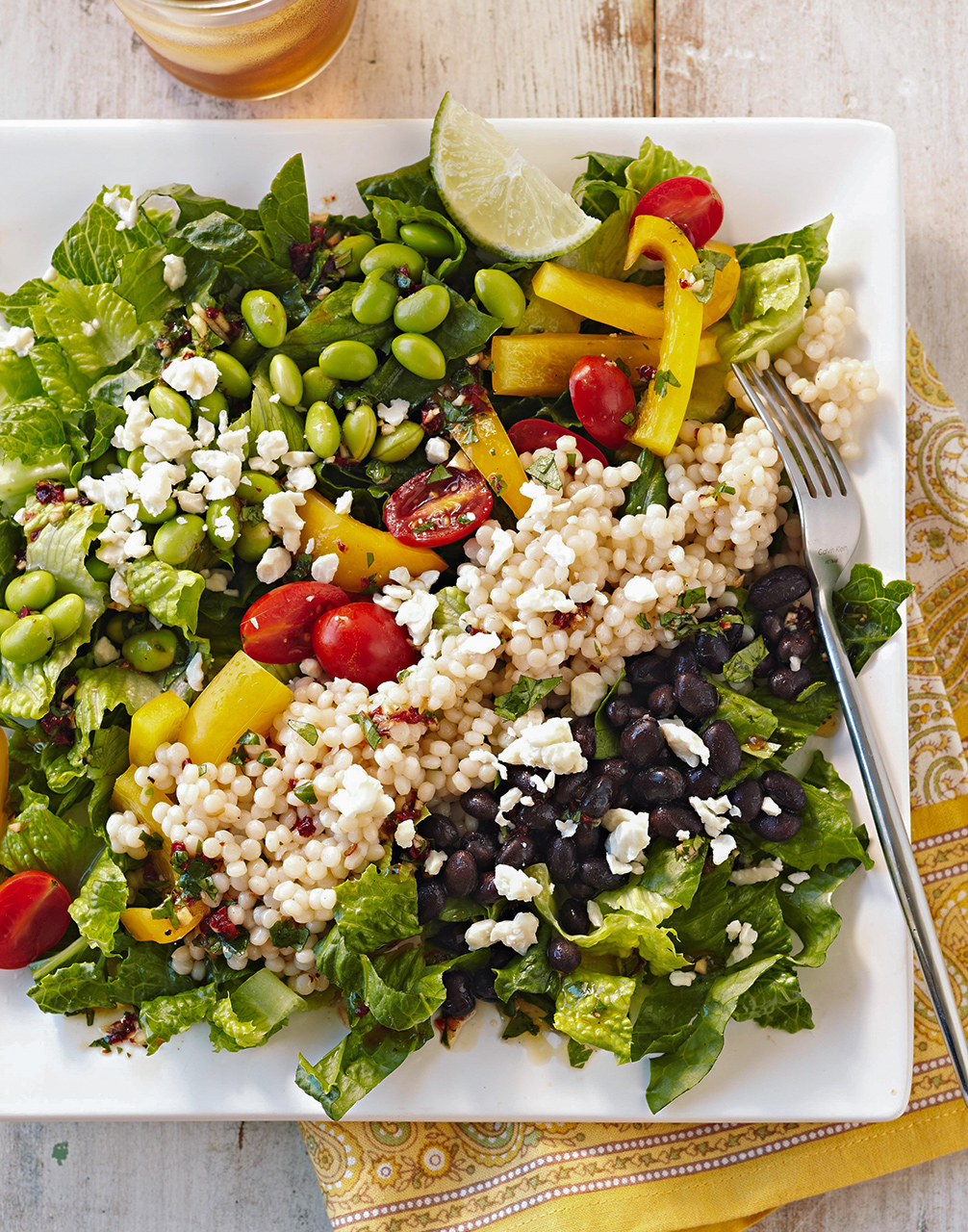 Mexican Edamame and Couscous Salad
