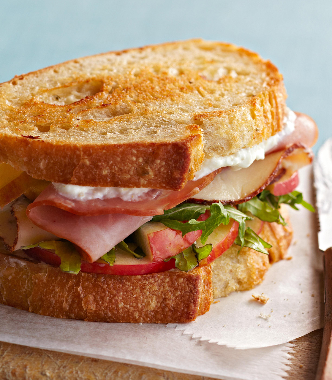 Grilled Ham and Chicken Sandwich