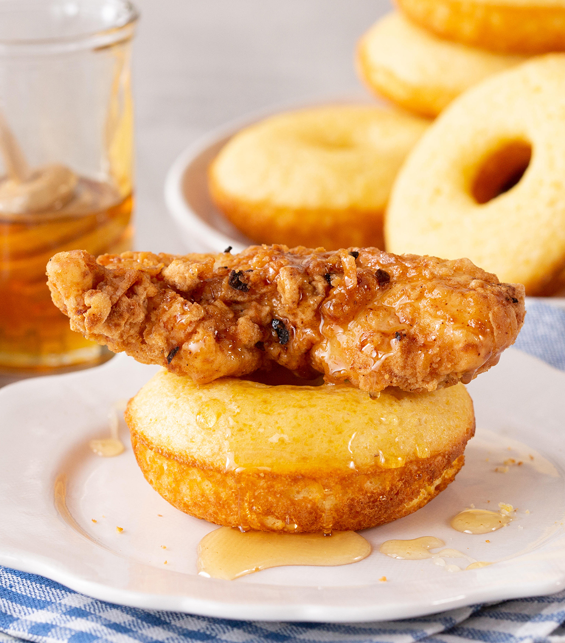 Savory Cornbread Donuts and Fried Chicken