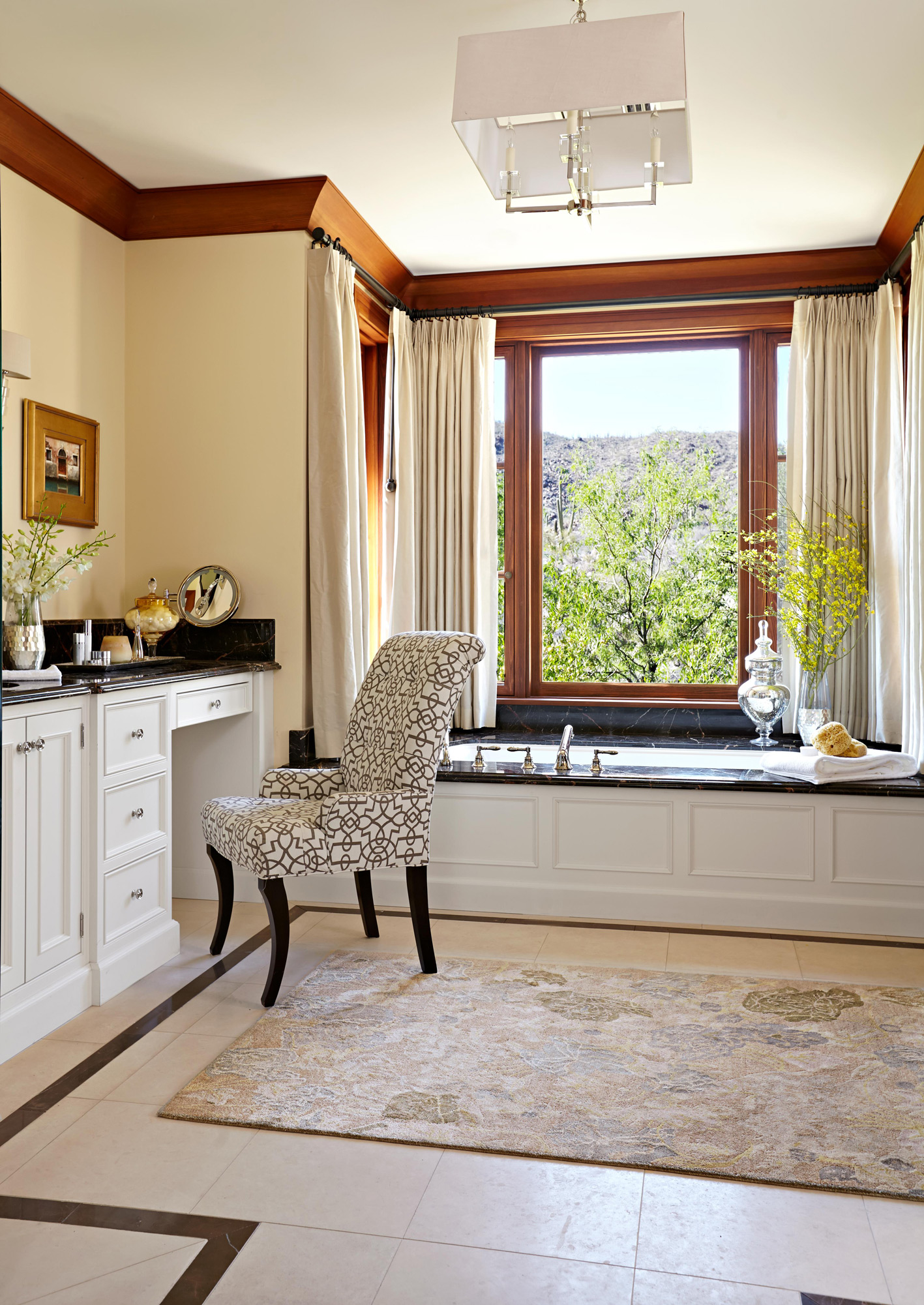 large bathroom bathtub nook with windows