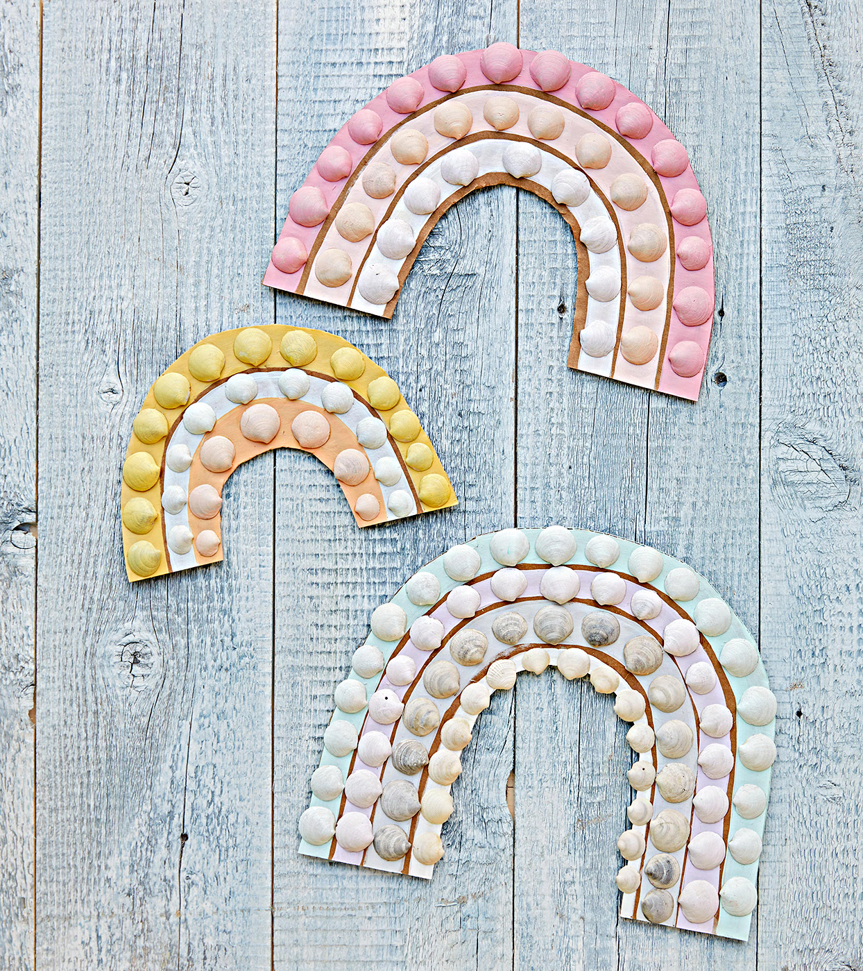 Rainbow shell craft project