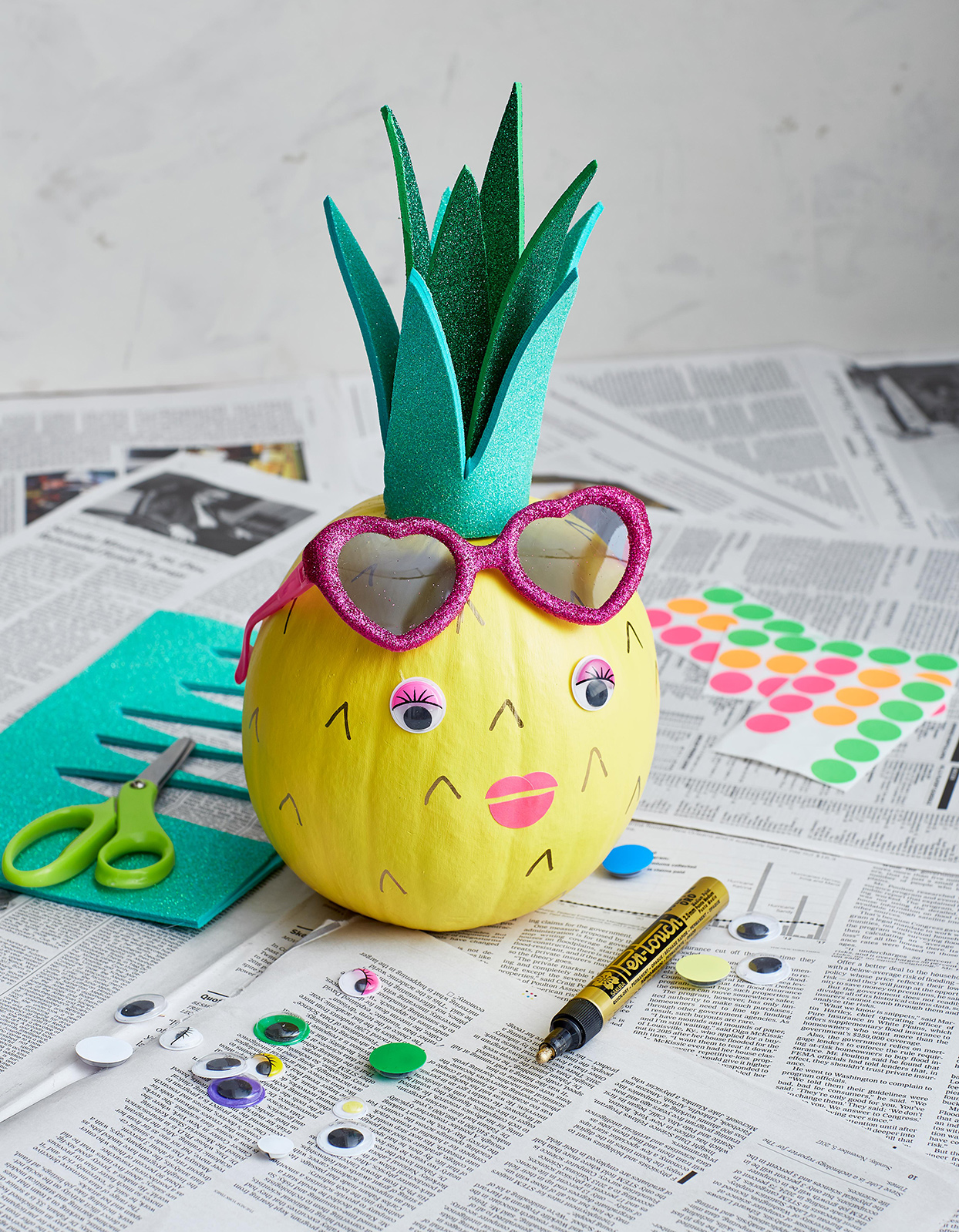 pineapple pumpkin painted