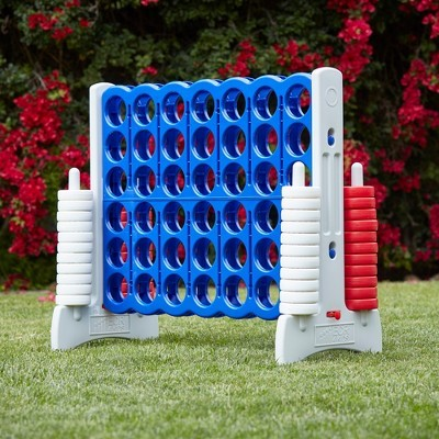 Giant connect game on lawn