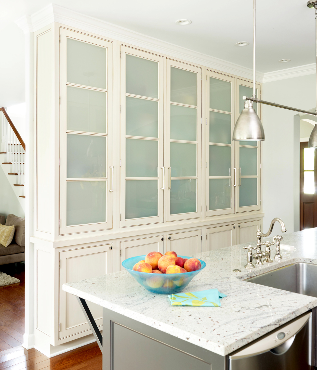 kitchen with cabinet walls