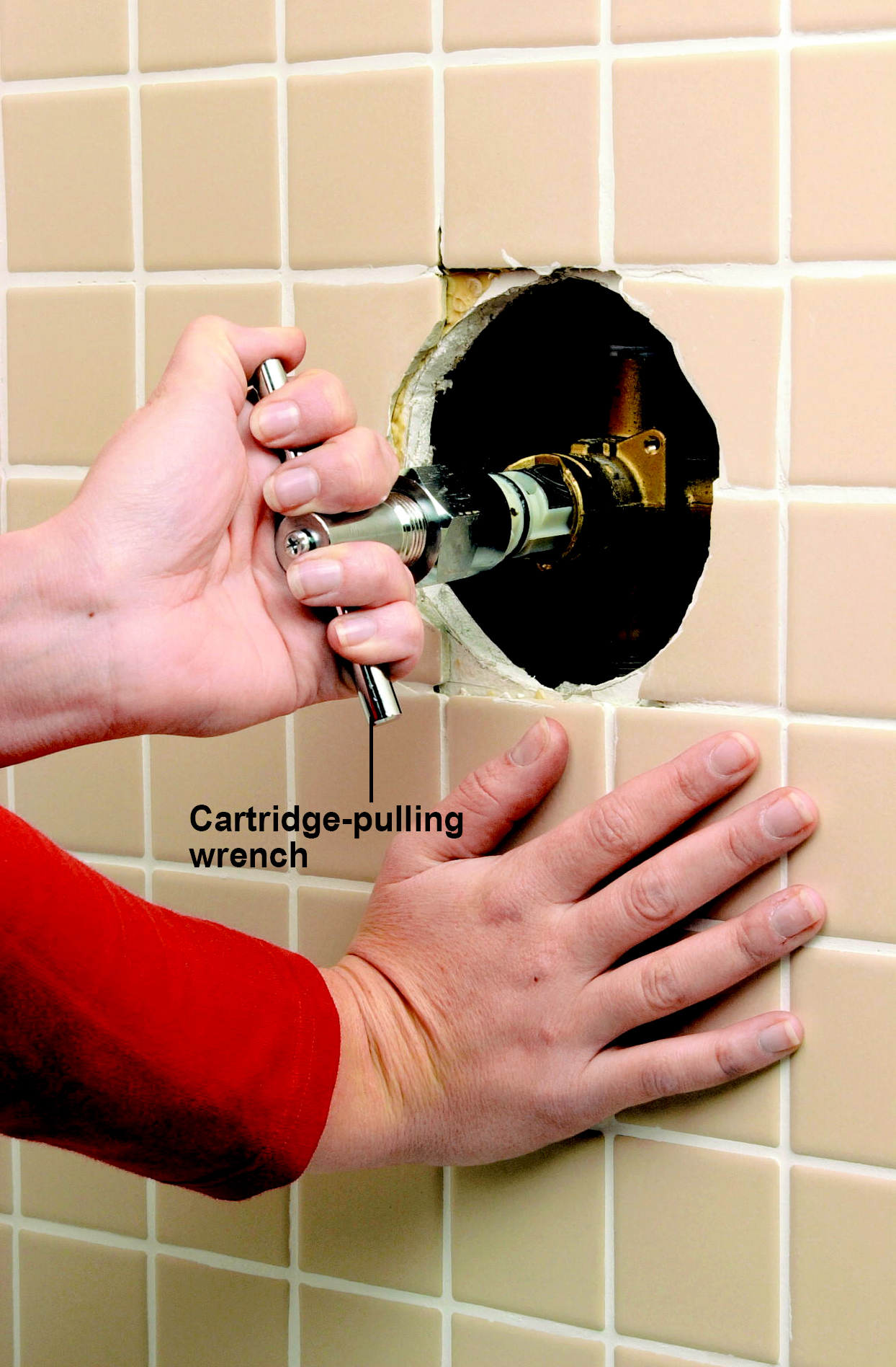 remove cartridge with wrench