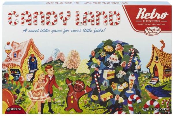 Retro candy land game board