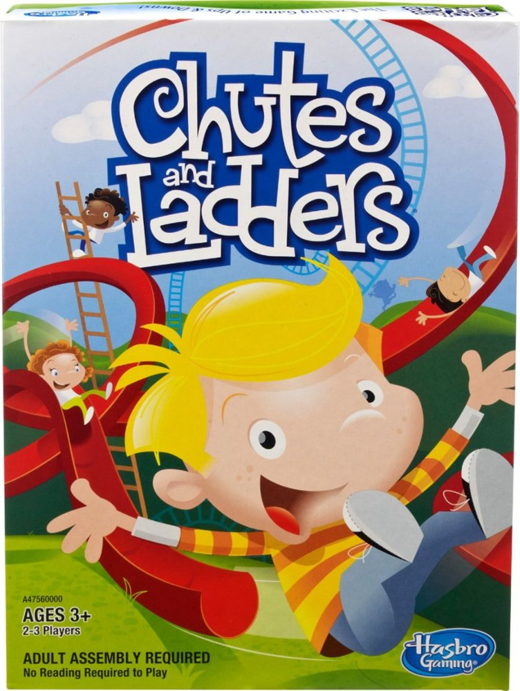 chutes and ladders board game box