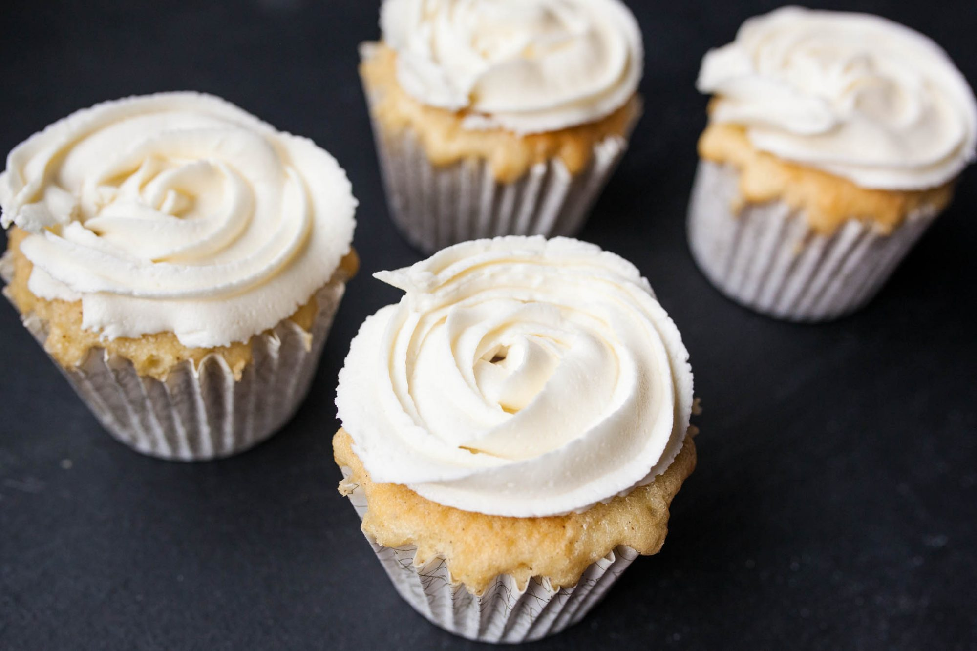 cupcakes with white buttercream