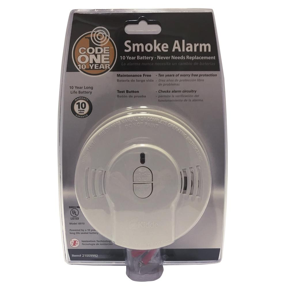 smoke and fire alarm in package