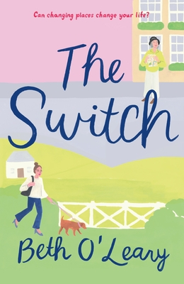 pastel book cover with 'the switch' written in blue cursive