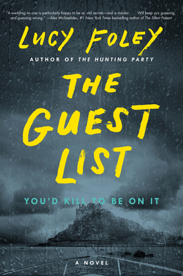 gray book that says the guest list in yellow
