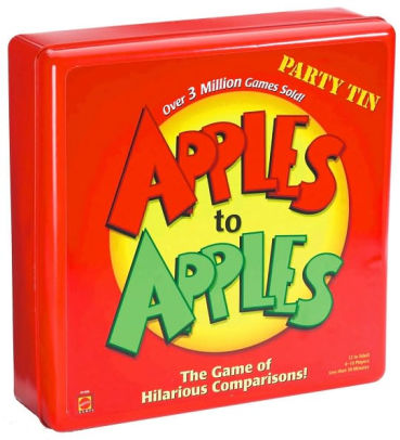 apples to apples board game tin