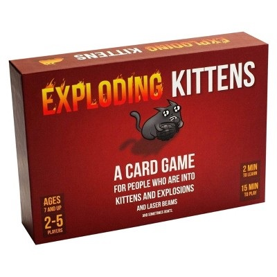 front of exploding kittens game box