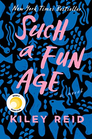 blue and pink book cover of such a fun age