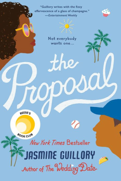 blue and white book cover of the proposal