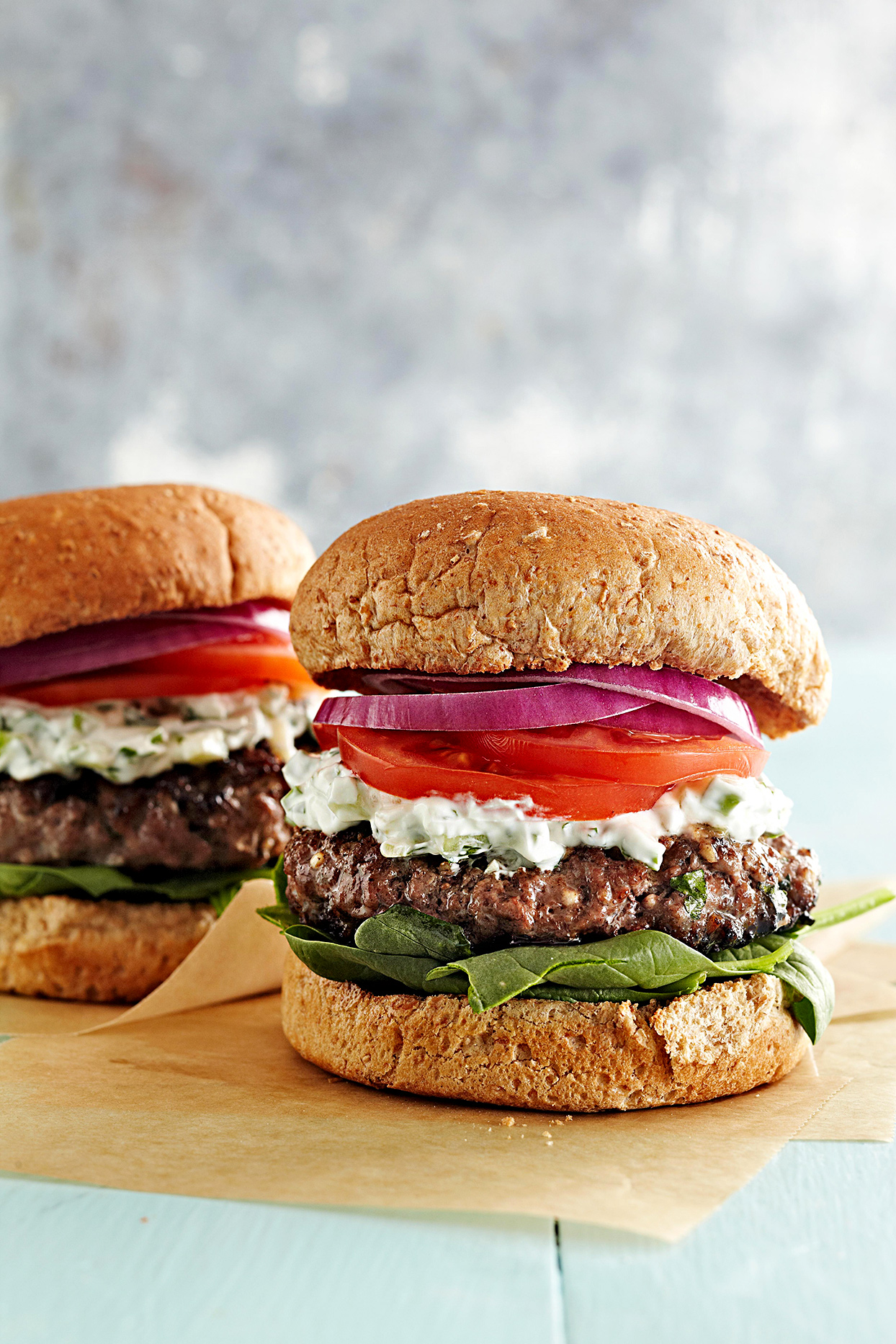 Greek Feta Burgers
