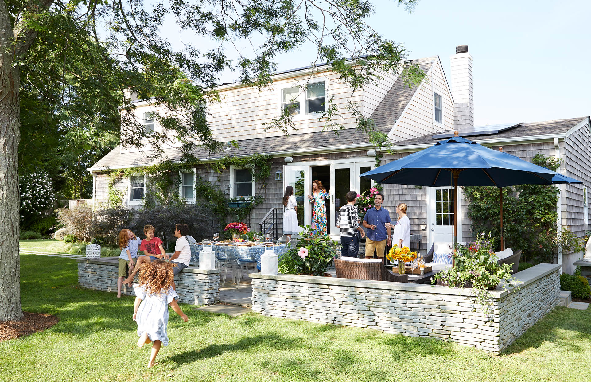 Mancini home tour exterior yard party outdoor space