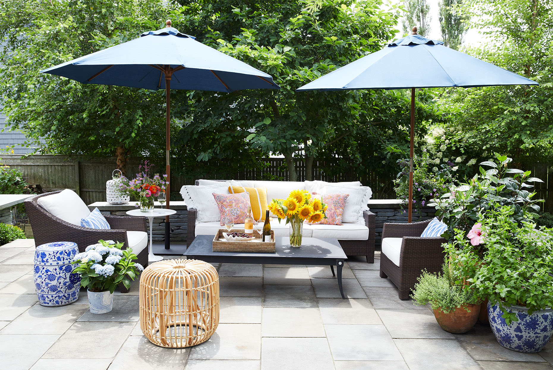 Mancini home tour outdoor space
