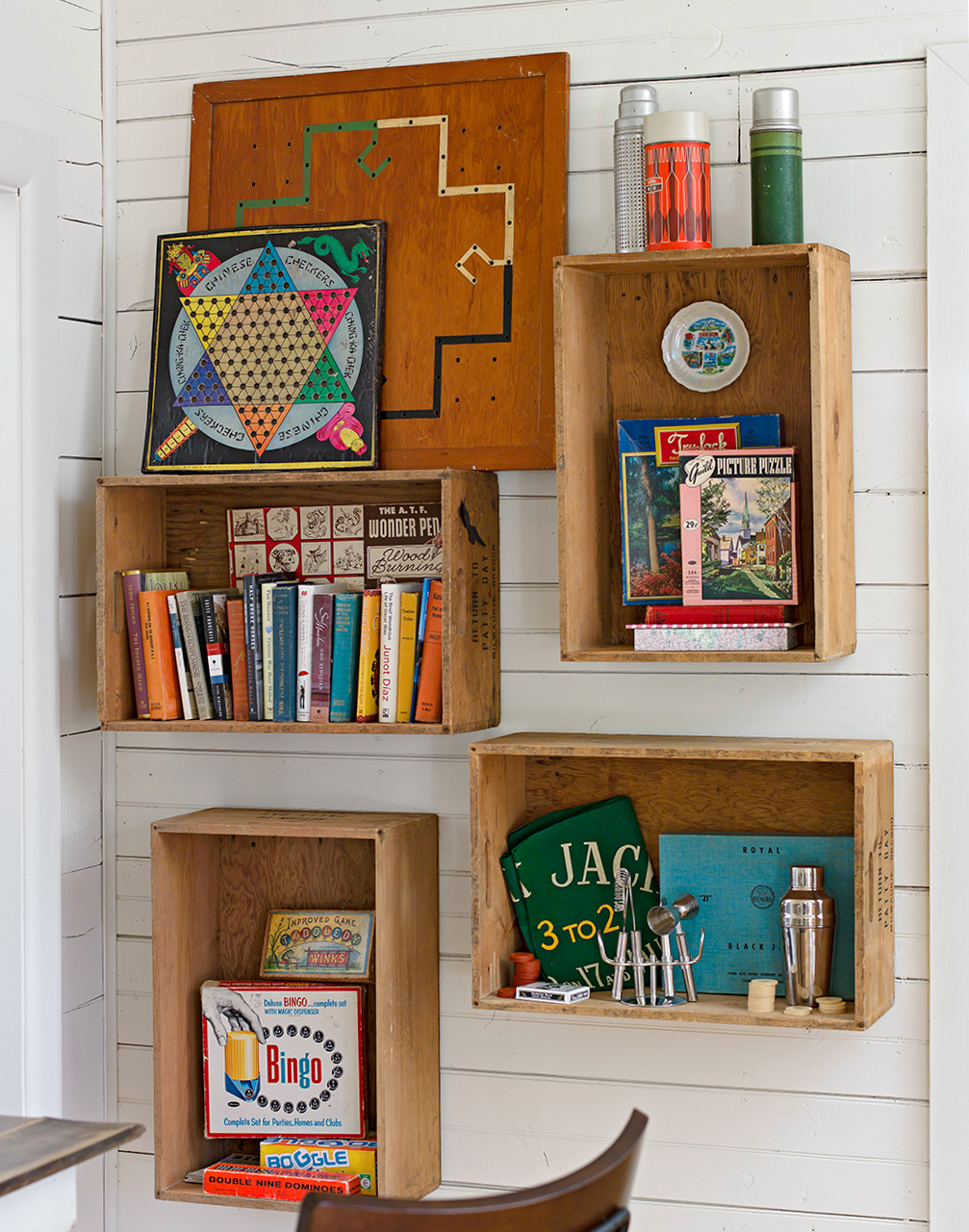 crate wall shelves decor
