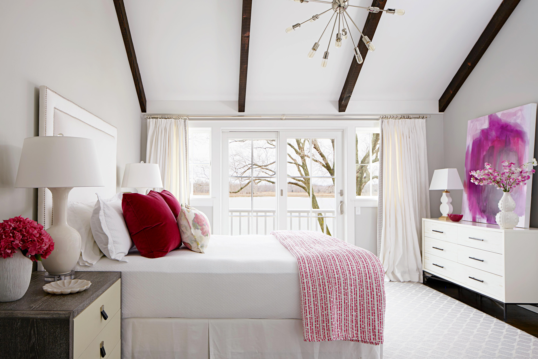 bright new york coastal home white bedroom