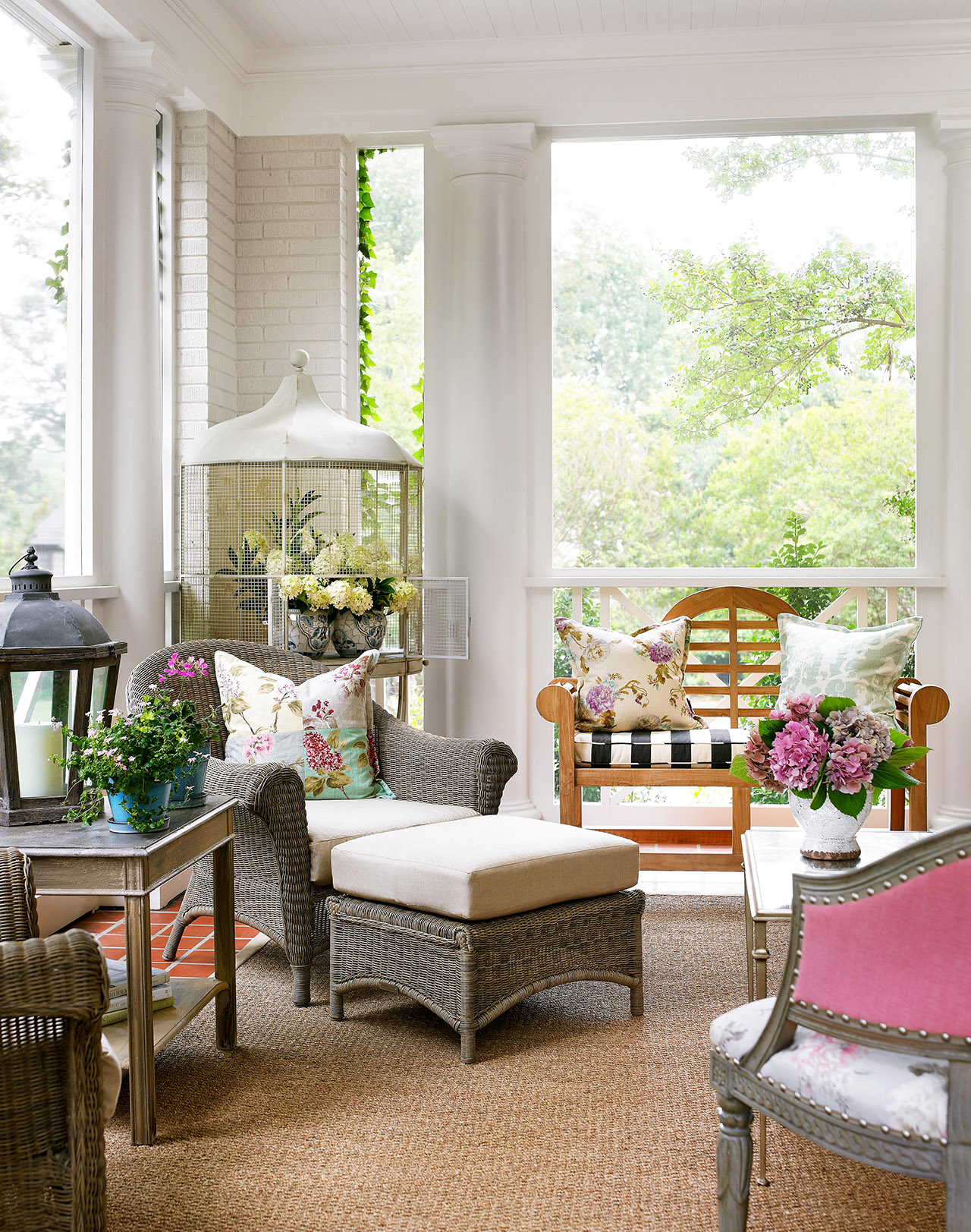 porch outdoor furniture living space