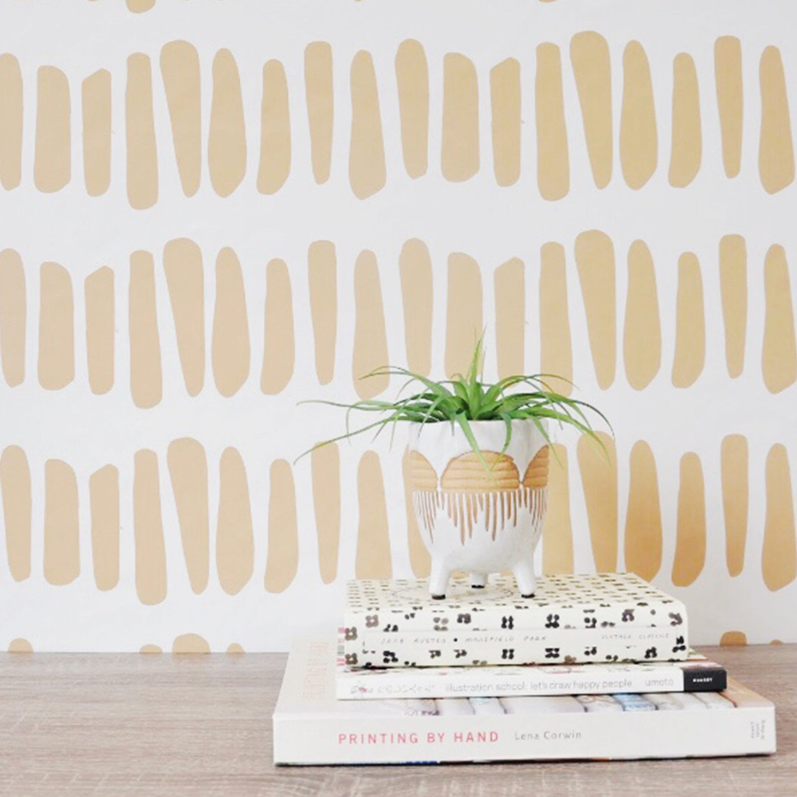 patterned wallpaper from Etsy