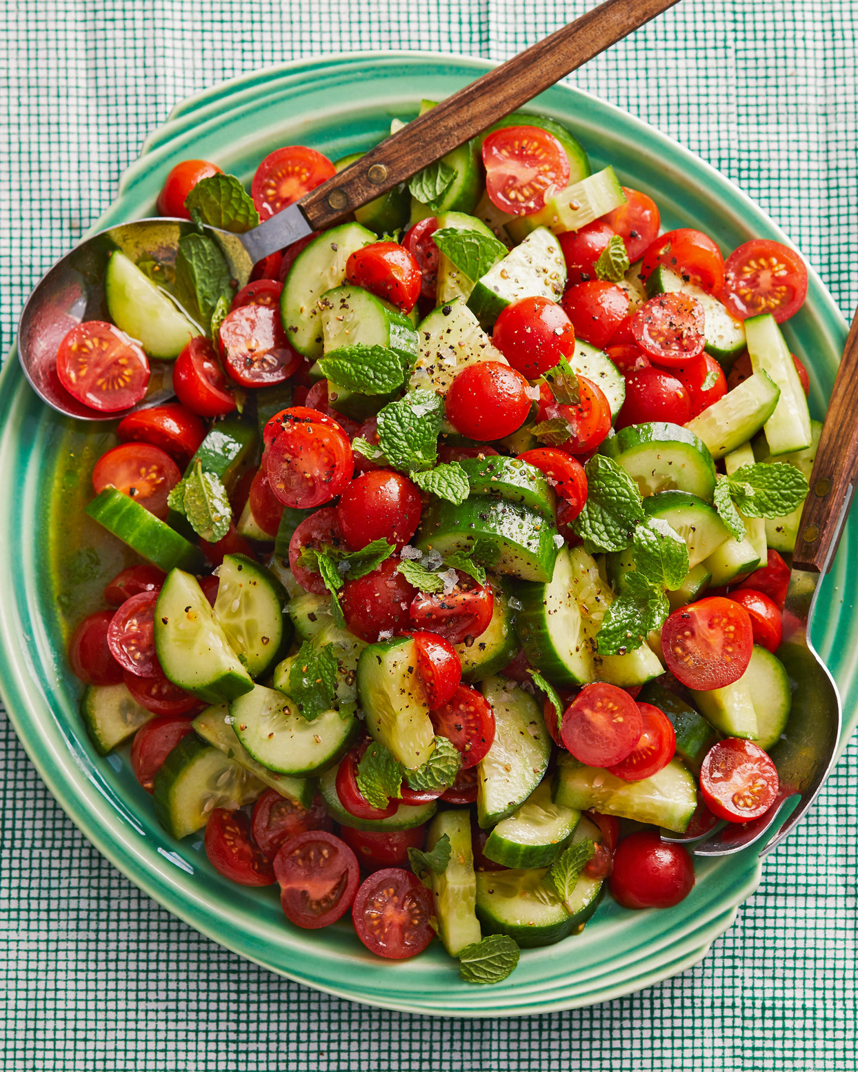 Cucumber Tomatoes and Mint
