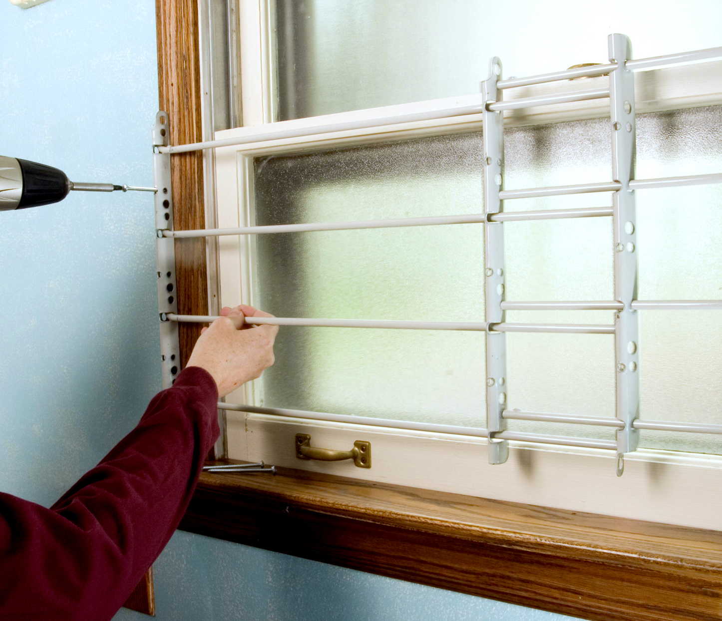 installing security bars over windows