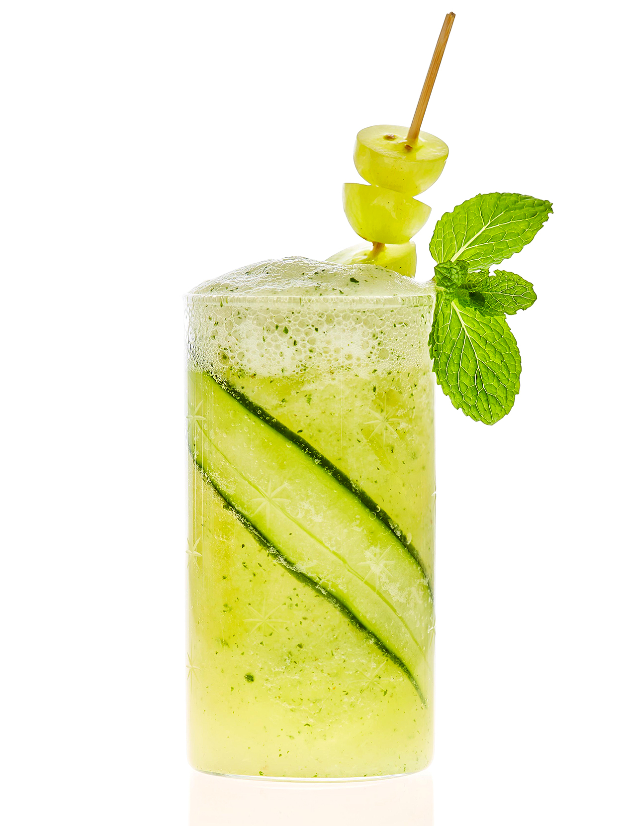 Cucumber-Grape Smash in glass