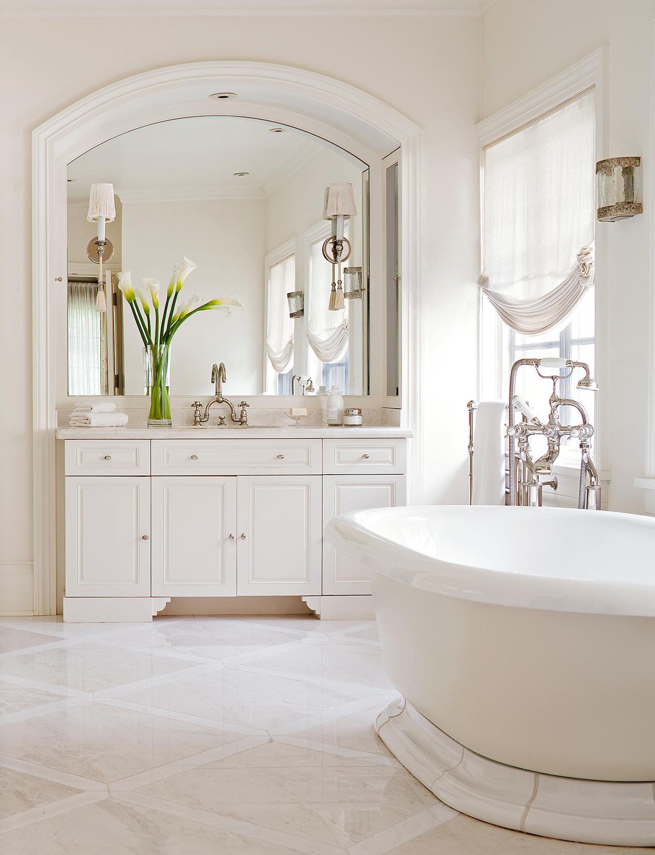21 White Bathroom Ideas For A Sparkling Space Better Homes Gardens