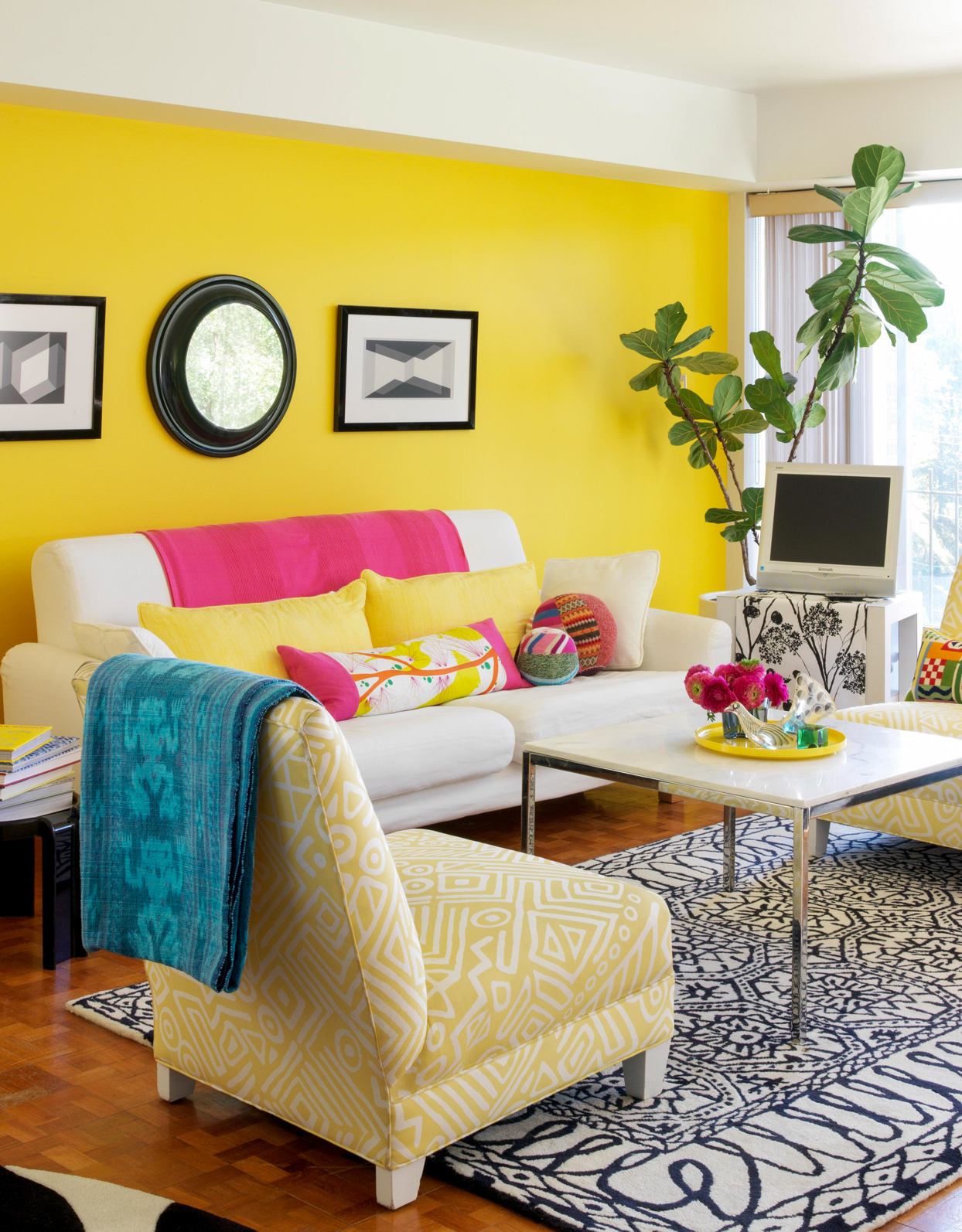 Yellow Accent Wall