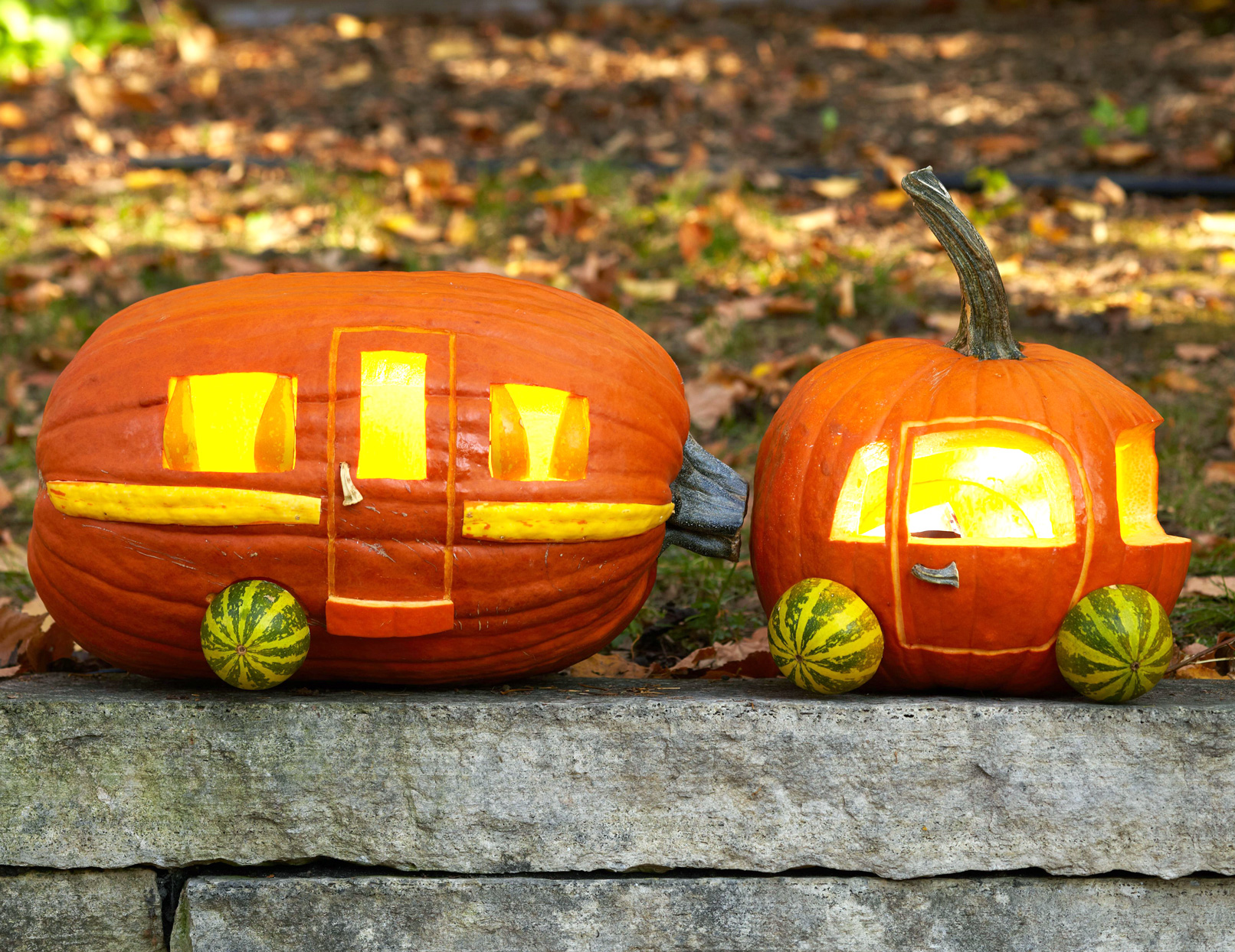 Halloween Car and Camper Pumpkins