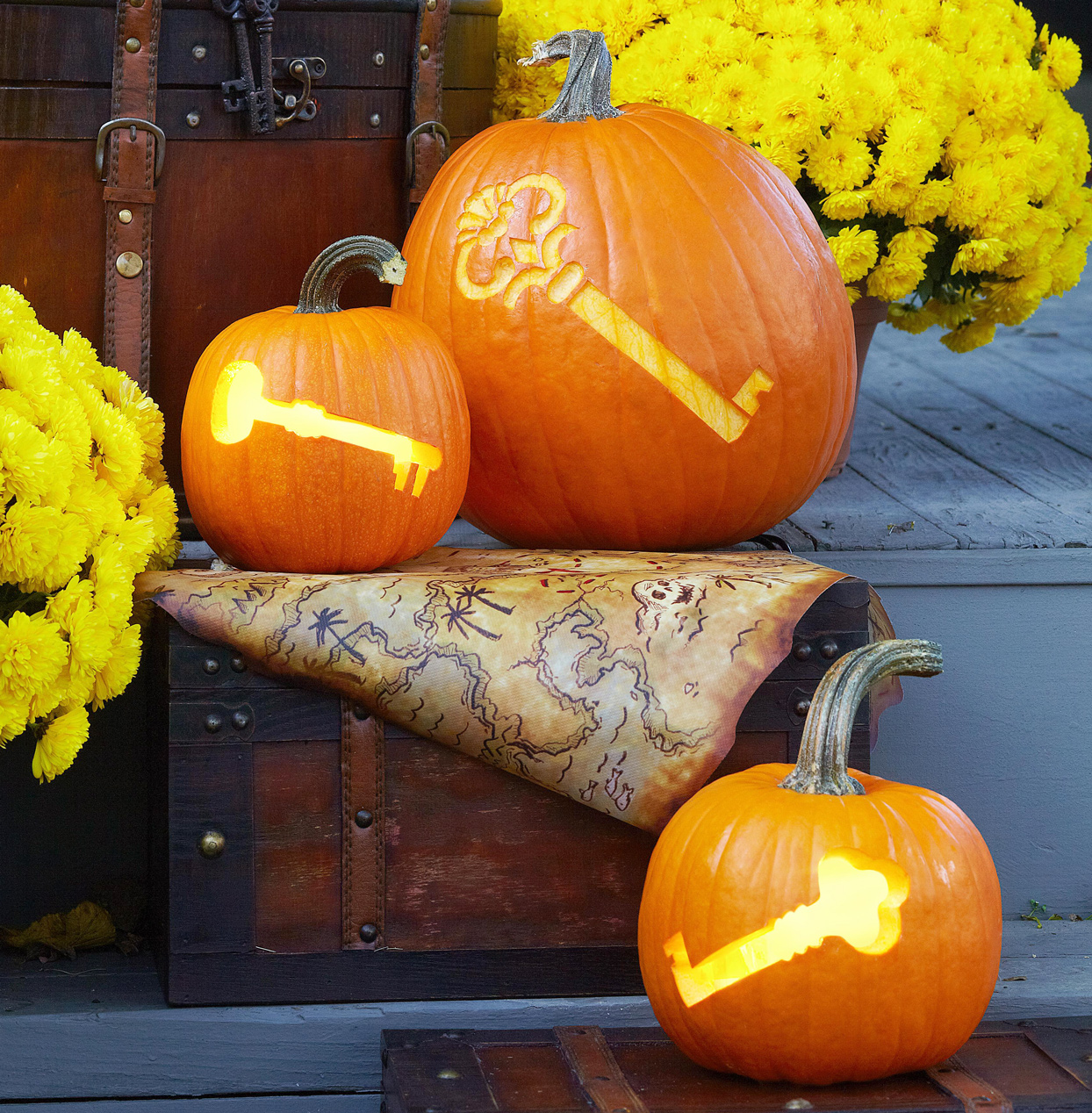 pumpkins with keys