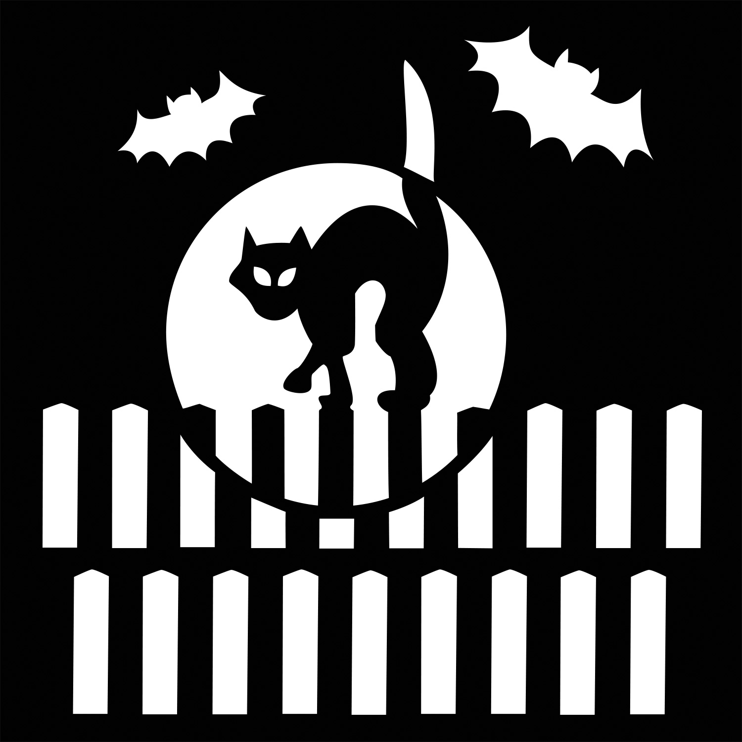 cat in the moon stencil