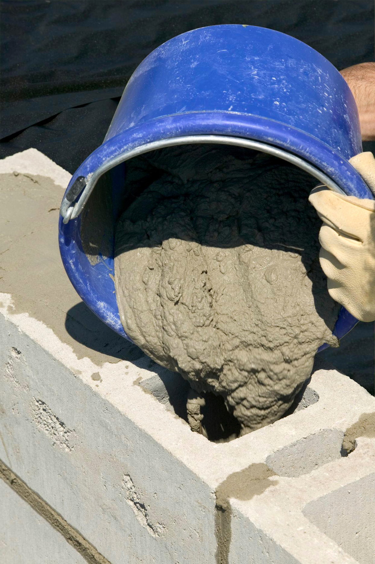 Fill with Mortar