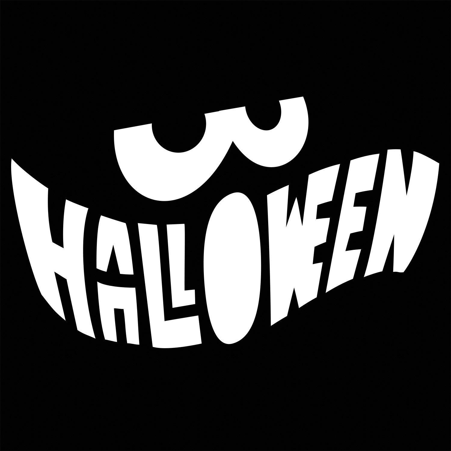 halloween mouth stencil