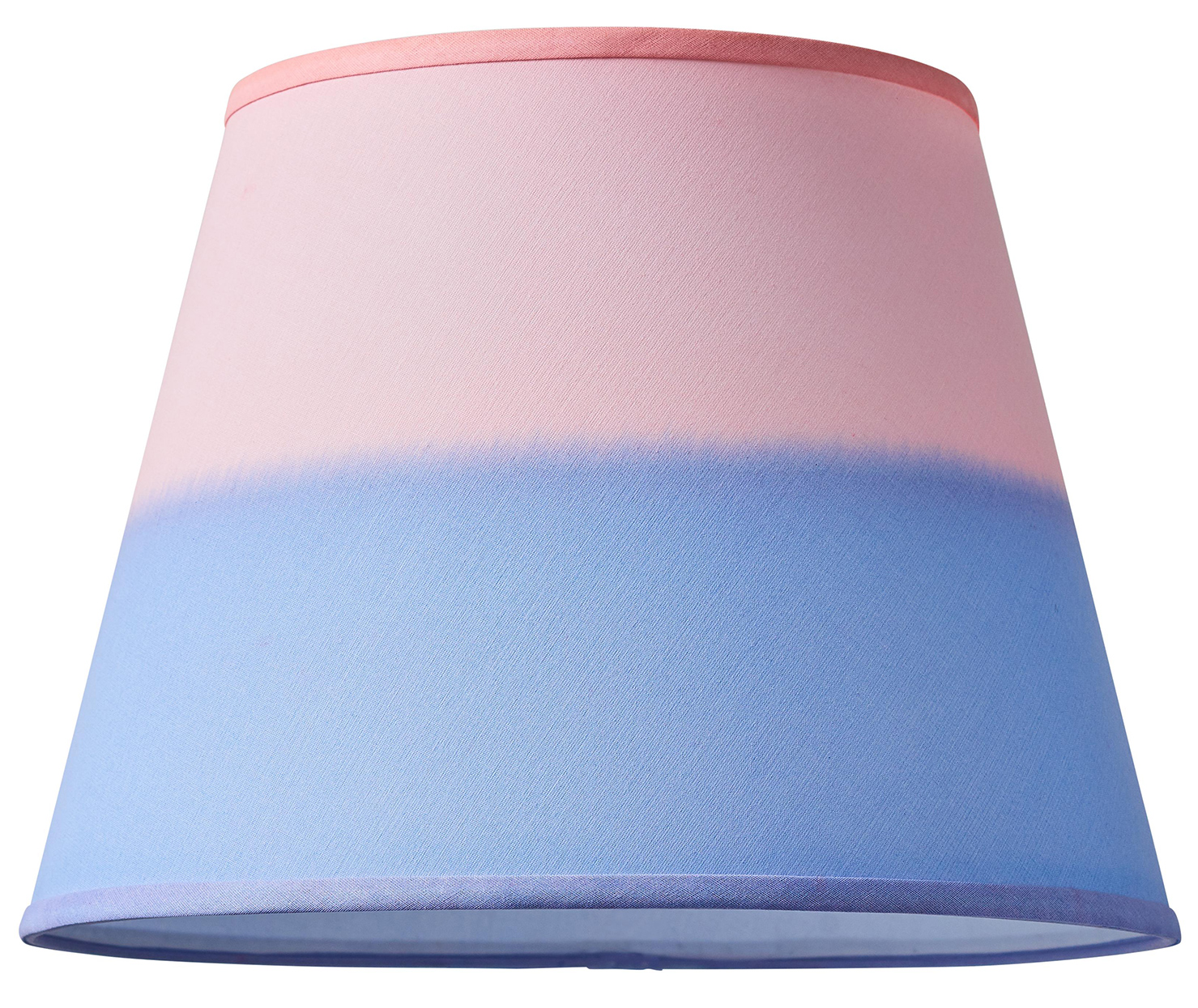 lampshade with pink and purple colorblock dye