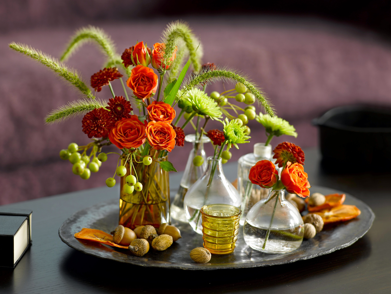 Bottled Flower Arrangement