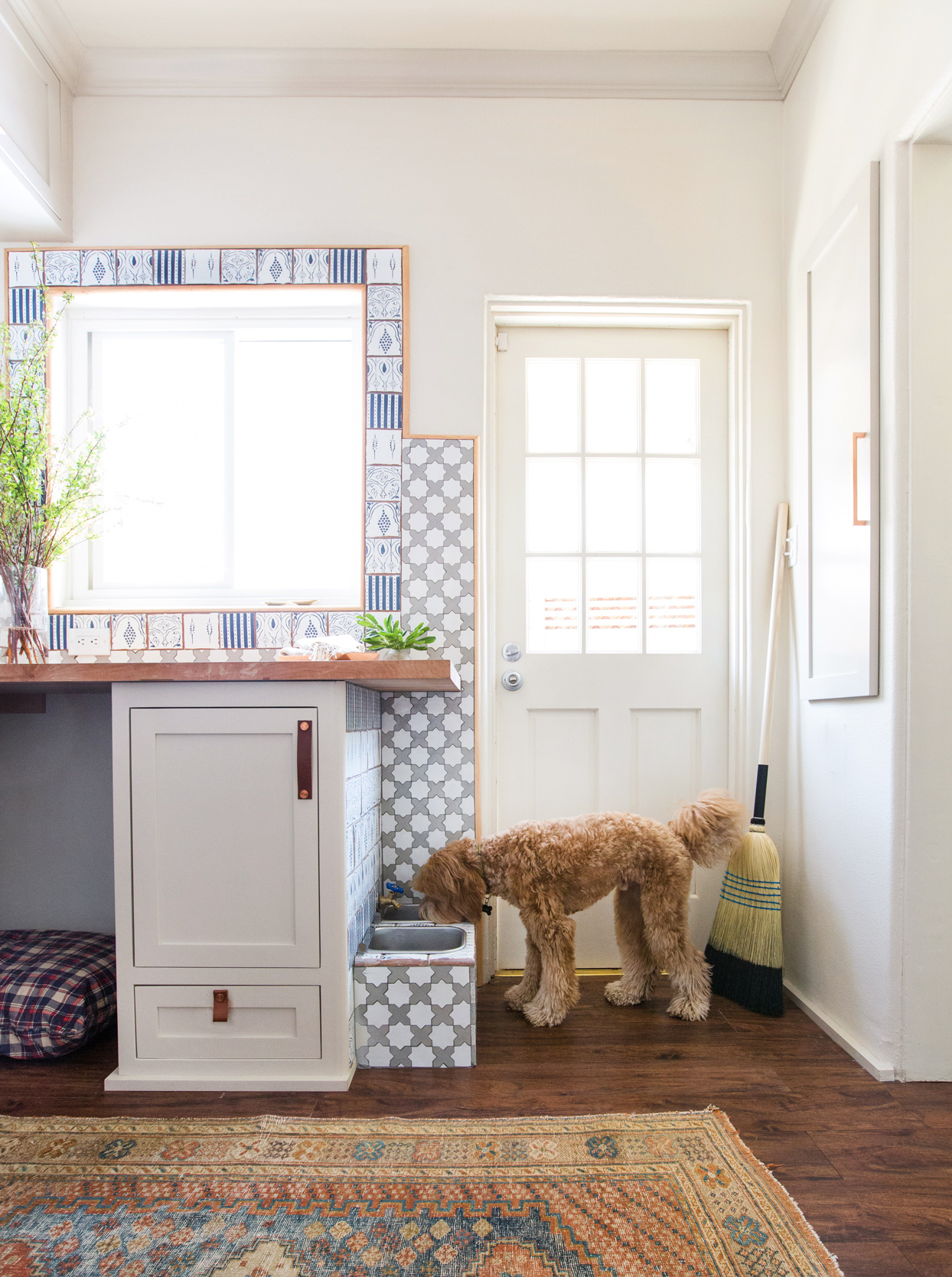 dog area in laundry room