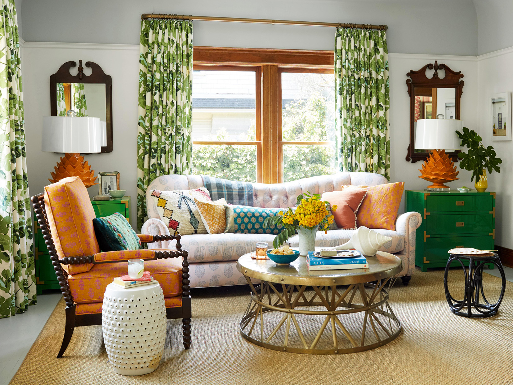 Liz Strong home patterned living room