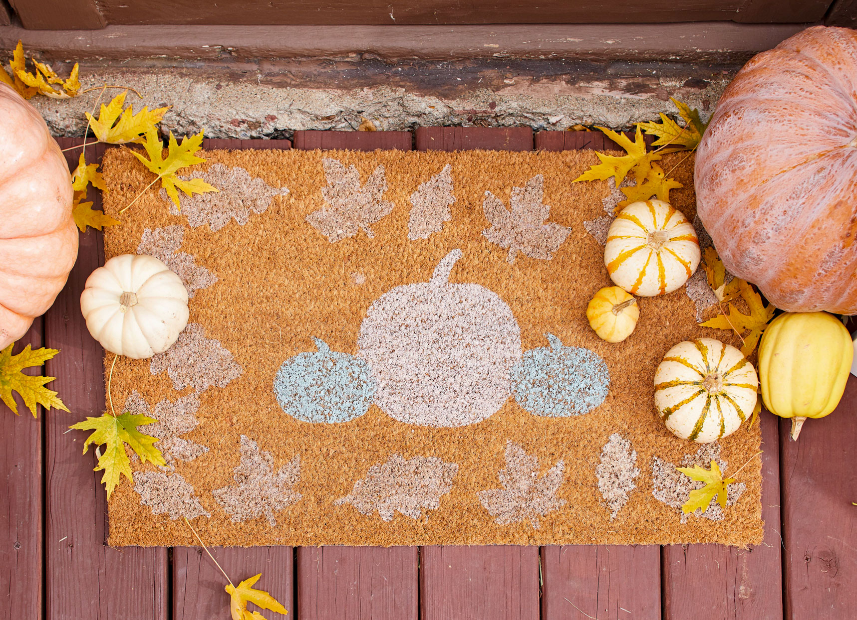 halloween pumpkin outdoor mat