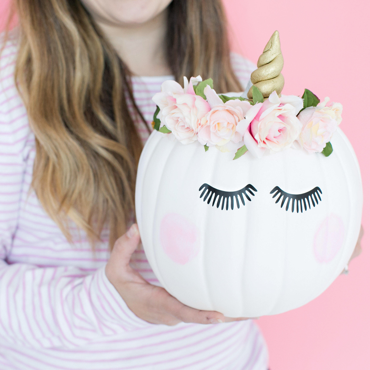 white unicorn pumpkin