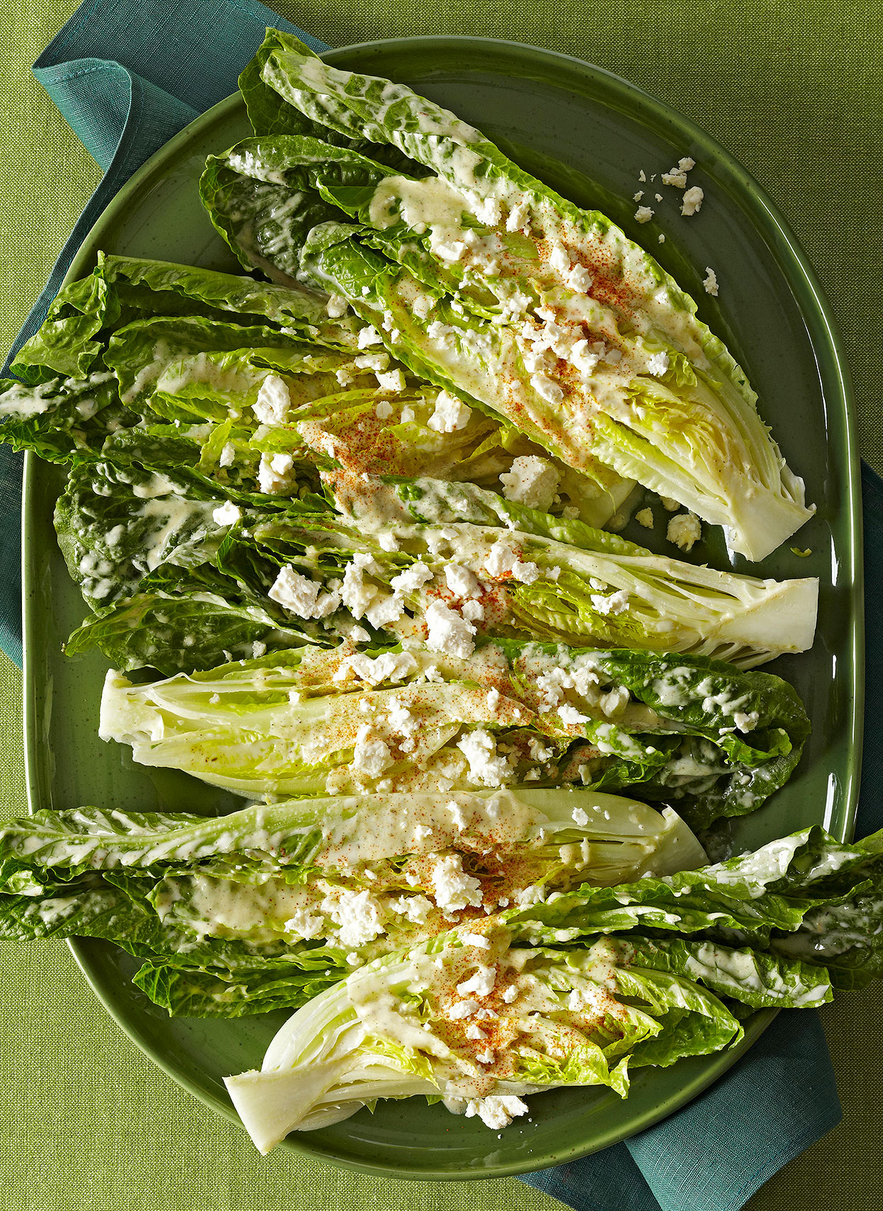 Hearts of Romaine with Creamy Feta Dressing