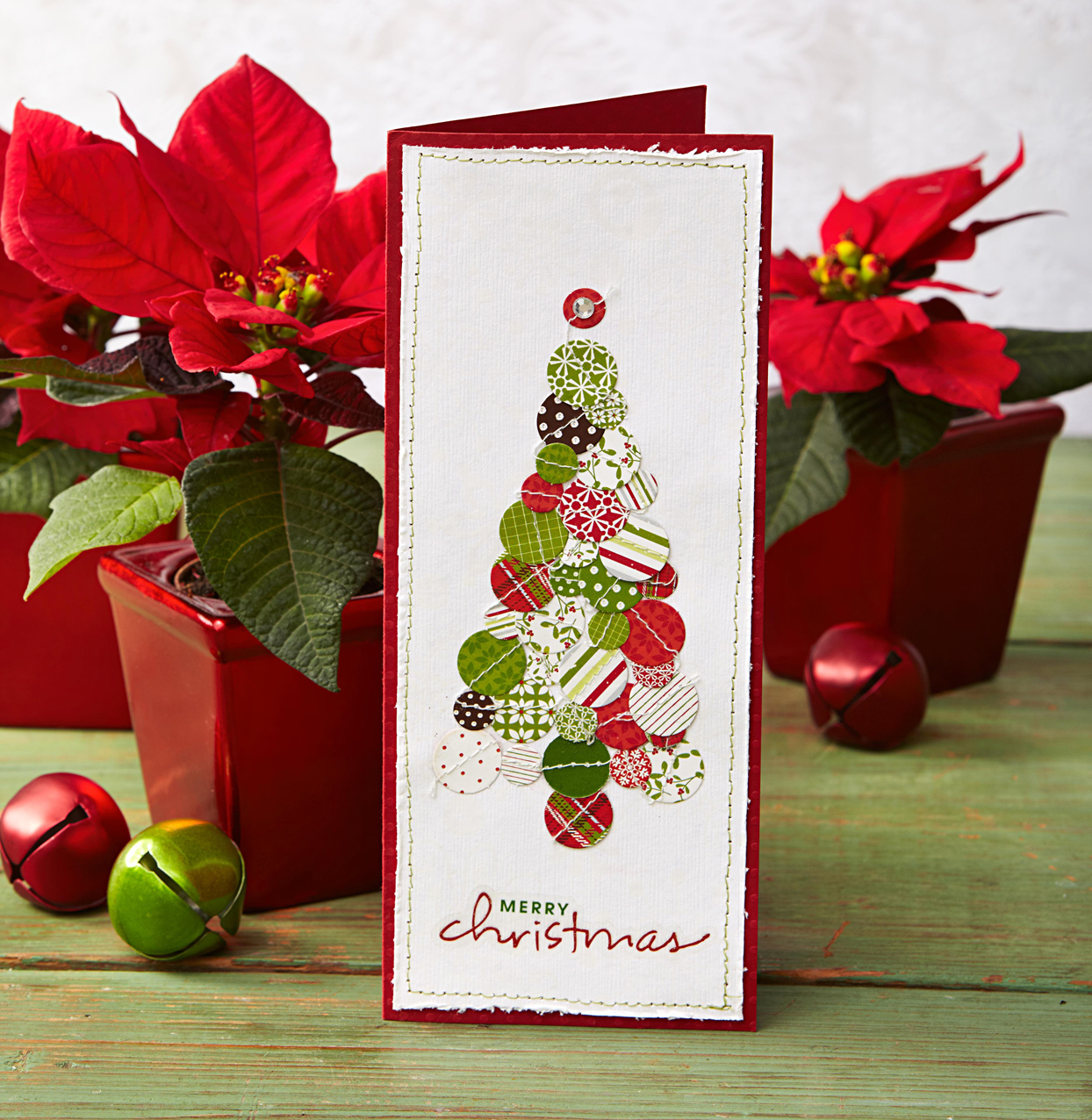 Decorative tree Christmas card