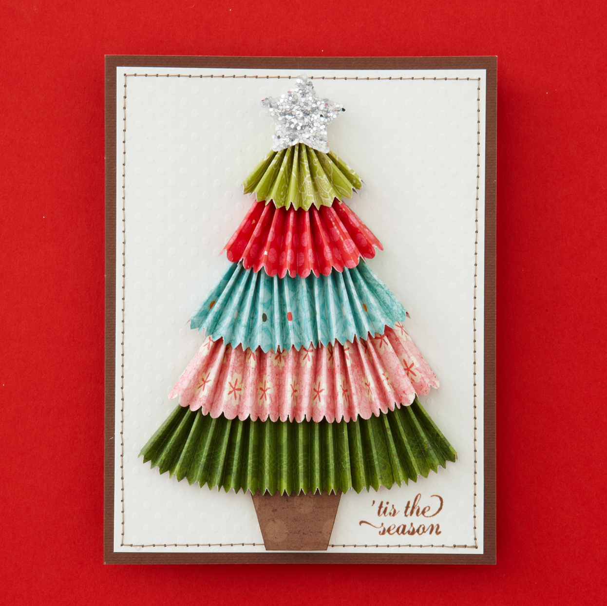 Homemade Christmas Tree Card
