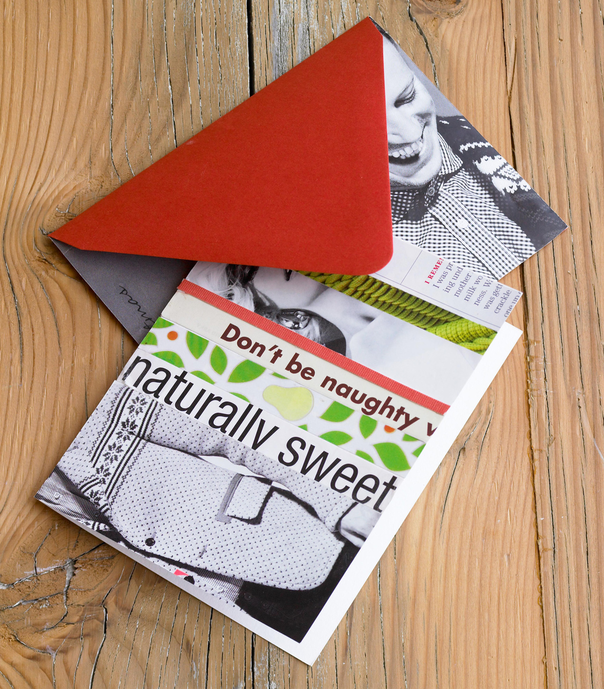 Recycled Magazine Christmas Card
