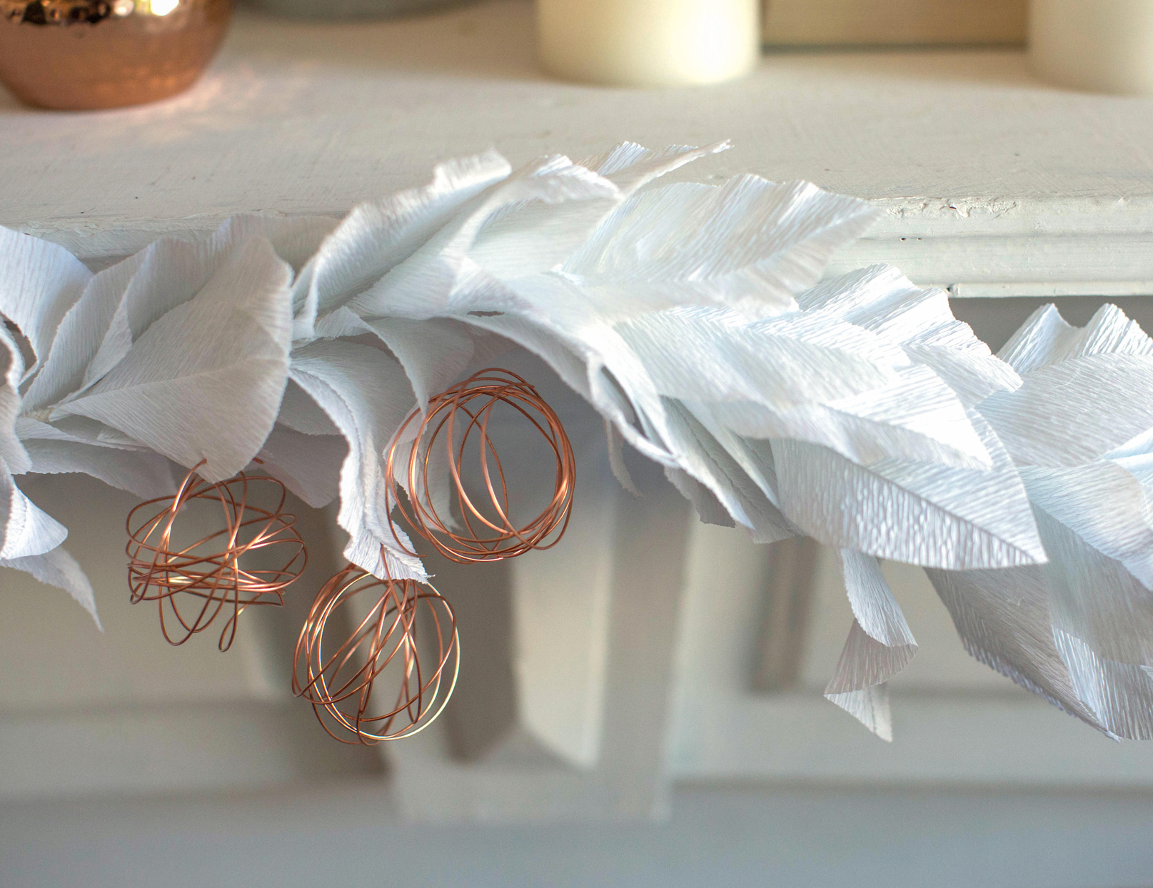 Crepe and Copper Garland