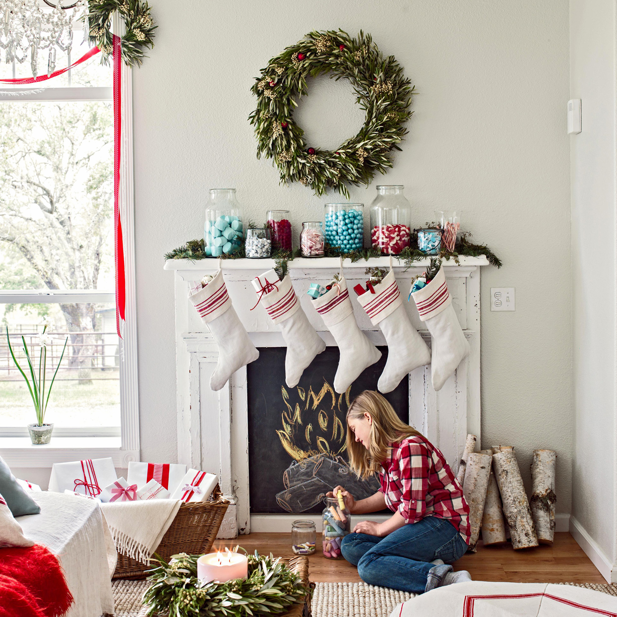 Christmas Garland for a Backdrop