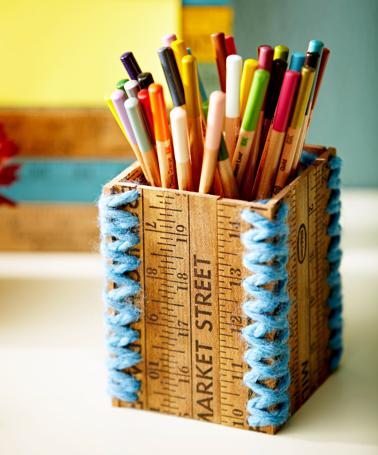 Stitched-together pencil case